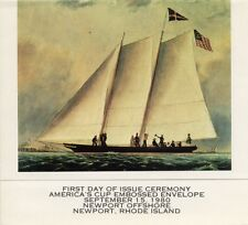 #U598 15c America's Cup Embossed Envelope First Day Ceremony  Program