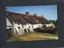 Postcard - View of a cottage in Brittany, France