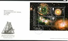 GB 2002 FDC ASTRONOMIA MINISHEET ms2315 tallents House TIMBRO TIMBRI