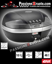 bauletto givi v46 tech nero bmw f 700 800 gs adventure 2013 piastra e staffa