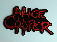 PUNK ROCK HEAVY METAL MUSIC SEW ON / IRON ON PATCH:- ALICE COOPER BLOOD LETTERS