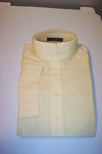 BEACON HILL SHOW SHIRT LONG SLEEVE CHILDS SIZE10 YELLOW WITH FINE WHITE LINE