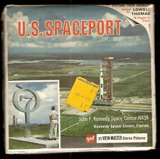 s U.S. SPACEPORT NASA Kennedy Space Center GAF ViewMaster 3 Reel Packet B 662b