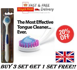 TOTAL CLEAN TONGUE BRUSH CLEANER SCRAPER - ORAL DENTAL CARE UK BULK *OFFER*