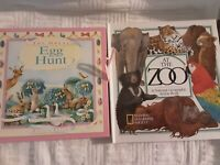 Super Pop Up Book x2 Easter Egg Hunt & At The Zoo National Geo