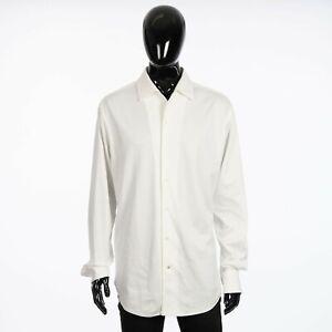 LORO PIANA 835$ Capri Shirt In Optical White Cotton Jersey