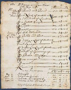 1687 original bill food + drink Three Tuns pub WINDSOR vintner Thomas St George