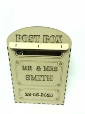 Personalised Wedding Post Box XXXXL WISHING WELL  Mr & Mrs    Fits A4 Cards  MDF