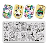 Nail Art Stamping Plate Image Decoration Easter Bunny Rabbits Chicks (XL058)