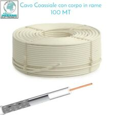 CAVO COAX SAT PVC 5mm bobina da 100MT CORPO IN RAME