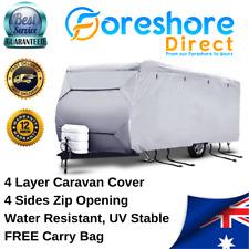 Caravan Cover Heavy Duty 14-16ft 4 Layer Waterproof Campervan Camper Pop Top UV