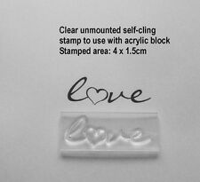 Love Text Clear Unmounted Stamp With Heart - Valentine, Wedding Or Enagement