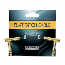 Rockboard Gold Flat Patch Cable 2in - Patchkabel With Flattened Plugs