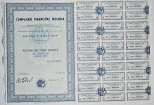 Action - Compagnie Financière MOCUPIA, action de 100 Frs N° 008242