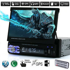 "GPS Nav 7""HD Bluetooth Rouch Car Stereo Radio MP5 MP3 Player SD/TF/USB/AUX Audio"