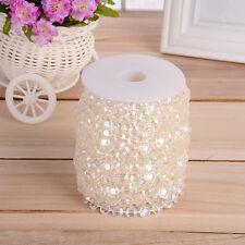99FT Garland Diamond Strand Acrylic Crystal Bead Curtain Wedding Party Decor DIY