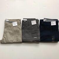 NWT Calvin Klein Men's Classic Fit Sateen Pants All Sizes 5 pocket 100% Cotton