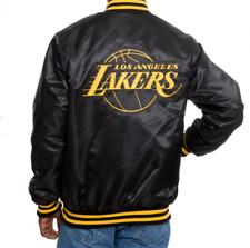STARTER Lakers BLACK LABEL BLACK & YELLOW Satin Jacket