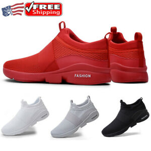 Mens Sneakers Slip On Comfort Shoes Flat Breathable Lightweight Walking Athletic
