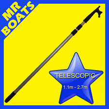 TELESCOPIC MOORING BOAT HOOK ✱ 3 STAGE TELESCOPIC 1.1M-2.7M✱ Aluminium FREE POST