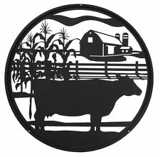 Swen Products Farm Meat Cow Steel Scenic Art Design