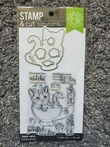 Hero Arts Stamp & Cut Kit-Tea Clear Stamps