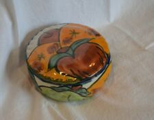 """New listing Ceramic or Clay Bowl/Jewelry or Trinket Container/4 1/2"""" D x 2 1/2"""" H/ T. Mexico"""
