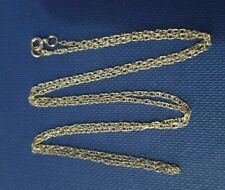 9ct gold fancy links fine chain necklace.  375