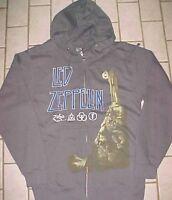 Led Zeppelin Stairway To Heaven Gray Full Zipper Fleece Sweatshirt Hoodie S