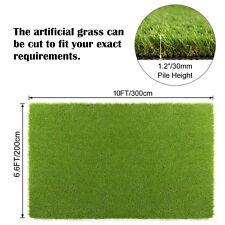 Synthetic Landscape Fake Grass Mat Artificial Pet Turf Lawn Garden Yard 10x6.6FT