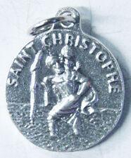 SAINT CHRISTOPHE PENDENTIF MEDAILLE METAL ARGENTE