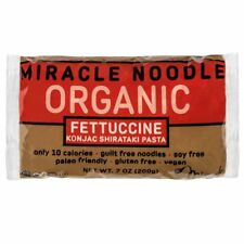 6 Packages Miracle Noodle Organic Fettuccine Shirataki Pasta for Low Carb Diet