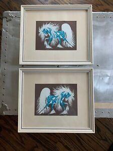 "Vintage ""Spirit Horse"" Screenprint Woody Crumbo Native American Artist"