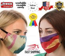 Face Mask Reusable Washable Cover Mask Fashion Cloth Women Adras/Cotton ikat USA