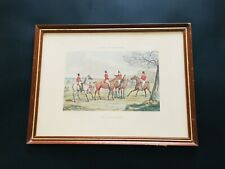 Antique Henry Alken Hunting Qualifications 'The Appointment' Print Plate 1