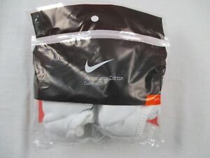 Nike Socks Unisex's White Cotton NEW M