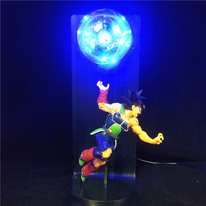 "Dragon Ball Z Gokou Son Goku's Father Bardock Statue Figure 14"" LED DIY Lamp"
