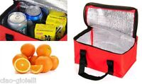 Insulated Thermal Cooler Bag Lunch Sandwich Drink Cool Storage Chilled Zip GP