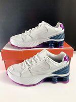 NEW! Nike Shox Enigma Women's White Blue Silver Sneakers Size 8 Shoes BQ9001-009