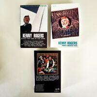Kenny Rogers - Lot of 3 Cassettes - Gambler - Twenty Greatest - Eyes See Dark