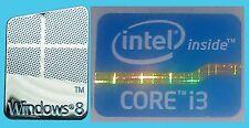 NUOVO INTEL INSIDE Core i3 computer Windows Gratis Adesivo 8 PC 10 ORIGINALE 7 Base