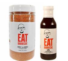 EAT Barbecue Rod Gray Zero to Hero Rub 29 oz & IPO BBQ Sauce 16 oz