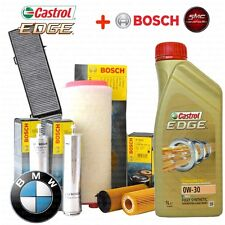 Kit tagliando olio CASTROL EDGE 0W30 6LT 4 FILTRI BOSCH BMW 320D E90 177 CV