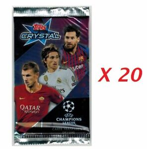 Champions League 2018-2019 Crystal Lot 20 Packs Cards Topps