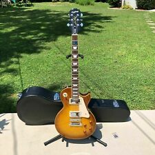2007 Epiphone Les Paul Standard Flamed Honey Electric Guitar & HSC