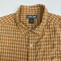 Urban Pipeline Button Up Shirt Mens XXL Orange Plaid Short Sleeve Casual