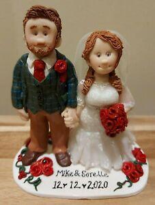 Bespoke Handmade Personalised Wedding Cake Toppers
