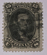 Travelstamps:1861-66 US Stamp Scott #77, 15  Lincoln, Used, NG