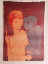"""ERNST FUCHS - """"Das ungleiche paar"""" - rare unsigned vintage lithograph  - 1967"""