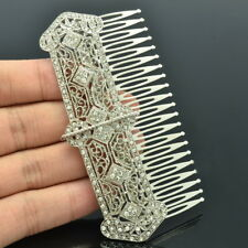 VTG Style Rhinestone Crystal Palace Hair Comb Bridal  Wedding Accessories XBY086